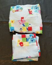 Blues Clues Toddler Sheet Set Flat Fitted Dan River Vtg HTF Tv Show Baby Crib