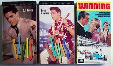Lot Of 3 Vhs Videotapes, Elvis + Paul Newman, Winning + Blue Hawaii + G.I.Blues