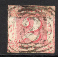 Thurn & Taxis (Germany) 2sgr Stamp c1859-61 Used (thins) (3838)
