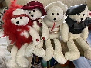 Chantilly Lane Musicals Lot of 4 Bears - Read Description