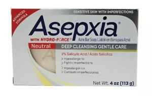 ASEPXIA JABON NEUTRO CONTRA ACNE / NEUTRAL CLEANSING SOAP BAR FOR ACNE 4 OZ