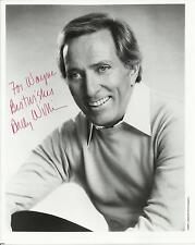 Andy Williams - Original Autographed 8x10 Signed Photo
