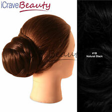 Clip in Hair Bun - Ballet Chic Chignon Style Bun Hairpiece - All Colours