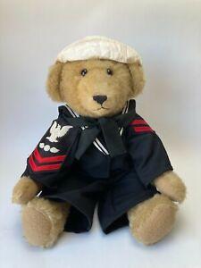 """VINTAGE OOAK 19"""" Mohair Jointed Sailor Bear Handmade by Georgie Blalock 1980's"""