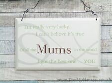 Lucky Mum Wall Plaque Sign Great Gift Ideas for Mums Birthdays F0819a