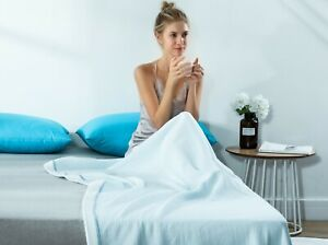 Cool Feeling Summer Blanket Throws Light Soft Breathable For Single Queen Bed