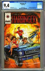 Valiant Comics HARBINGER #1 - CGC 9.4 WP NM W/COUPON 1ST STING KRIS ZEPHYR