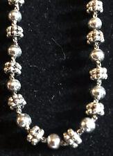 "Vintage estate signed Napier silver tone beaded 15"" necklace"