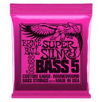 Ernie Ball Super Slinky Nickel Wound 5 String Electric Bass Strings 40-125