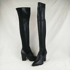 Sam Edelman Natasha Over The Knee Boots Black Leather Women's Size 7 M US