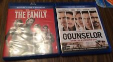 The Family, Counselor Blu Ray Movie Lot