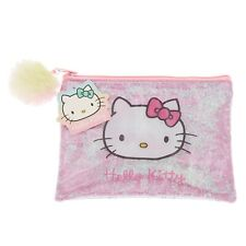 Hello Kitty Shakey Glitter Zippered Makeup Bag Cosmetics Bag Pink Pencil Pouch