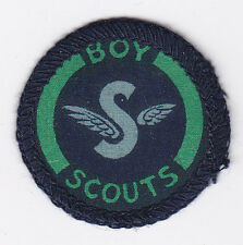 1939-45 UK / BRITISH SCOUTS - AIR SPOTTER SCOUT Printed WWII Proficiency Badge