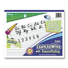 "Mead Writing Tablet Raised Ruling Dotted Lines 8""x10"" White 48556"