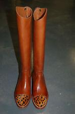 STIVALE DONNA-WOMAN BOOT- 36 - VITELLO CUOIO+CAVALLINO-CALF BOMBAY+PONY-LHT SOLE