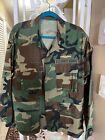 Vietnam camo fatique jacket w/ seal team patches + collar and submarine bar.M