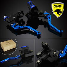 MZS Brake Clutch Levers Master Cylinder Reservoir Universal Set For Suzuki Honda