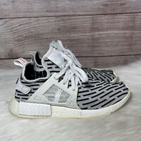 Adidas Mens NMD XR1 PK BB2911 White Black Running Shoes Lace Up Size 9.5