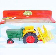 Britains Ltd 1:32 FORD 6600 Basic Green FARM TRACTOR + BUCK RAKE MB`80 VERY RARE