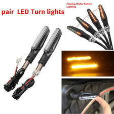 2* Flowing Water Motorcycle Motorbike 12 LED Turn Signal Indicator Light rubber