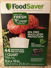 Vacuum Seal Heat # 1 Vacuum Sealing System Foodsaver 44 Pre-Cut Bags