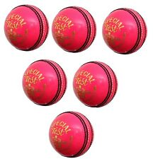 Special Test Pink Cricket Ball Senior Hand Made 4 Piece Ball Pack of 6