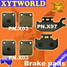 FRONT REAR Brake Pads for Yamaha YFM 450 Kodiak Wolverine Grizzly 2003-2010