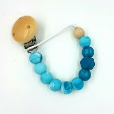 BPA Free Silicone Dummy Clip Chain Pacifier Clips Hand Made Baby