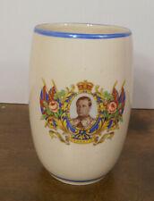"Vintage 1936 King Edward VIII Commemorative Coronation Porcelain Vase 6.5"" Tall"