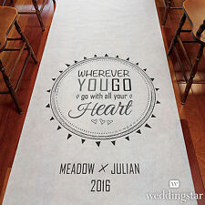 Free Spirit PERSONALIZED Aisle Runner Wedding Ceremony Decoration