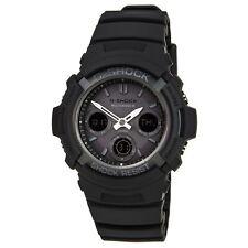 Reloj Digital Awgm 100B-1A Para hombres Casio G-shock Atomic Resina Negra Resistente Solar Ana -