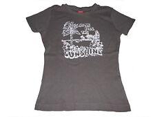 s. Oliver tolles T-Shirt Gr. 152 braun mit Palmenmotiv !!