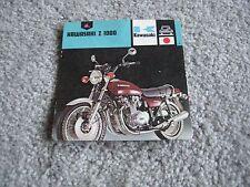 KAWASAKI Z1000 PICTURE INFORMATION CARD 1978 NOS!
