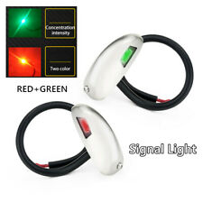 2PCS Boat LED Bow Navigation Signal Light Stainless Steel Lights Sidelight Yacht