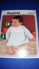 Hayfield Baby Dress DK Knitting Pattern 1571