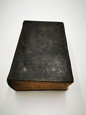 HEILIGE SCHRIFT - ANTIKES BUCH AUS DEM JAHR 1871 IM LEDER-EINBAND