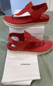 Vince Womens Flint Flatform Size 9.5  Show Thong Sandals  New