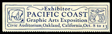 Usa Poster Stamp - 1923 Pacific Coast Graphic Arts Exposition - Oakland, Ca