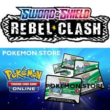 50 Rebel Clash Codes PTCGO TCGO Pokemon TCG Online Booster - sent IN GAME FAST!
