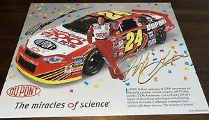 Jeff Gordon DUPONT 200 YEARS NASCAR WINSTON CUP 2002 CHAMPION autographed photo