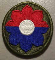 WWII US Army Patch 9th Division Europe New