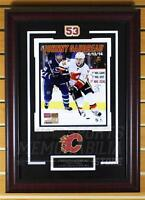 Johnny Gaudreau Calgary Flames Signed Autographed 1st NHL Game Goal 8x10 Framed