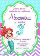 Princesses child birthday greeting cards and invitations ebay little mermaid princess ariel birthday party invitation filmwisefo
