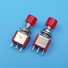 50Pcs Red 3Pin Momentary 6mm Mini Push Button Switch ON-OFF SPST 2A/250VAC