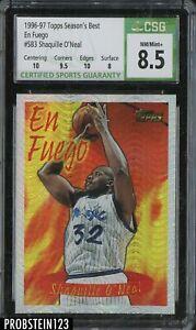 1996-97 Topps Season's Best En Fuego Shaquille O'Neal Magic HOF CSG 8.5