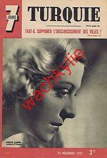 7 jours n°105 du 29/11/1942 Utrillo Lisette Lanvin Turquie front russe