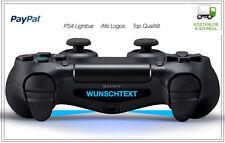 2x PS4 Lightbar Sticker Aufkleber Playstation 4 Controller Light Sony Wunschtext