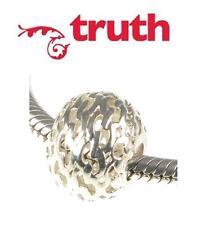 Genuine TRUTH PK 925 sterling silver OPENWORK RIPPLE charm bead, ocean beach