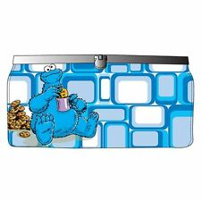 Sesame Street Blue Retro Cookie Monster Clutch Purse - Official Wallet Metal