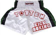 Thaiboxen, Kickboxen Hose Kickboxhose von TOP TEN. Gr.S - XXL in weiß